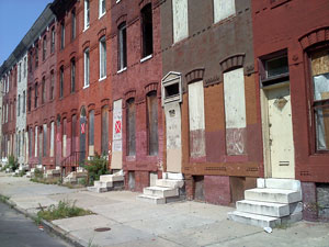 The city of Baltimore, Maryland, has 16,000 vacant homes. Reclaiming materials through deconstruction and establishing market outlets can create value where not currently exists.