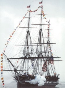 "The U.S.S. Constitution, also known as ""Old Ironsides."""