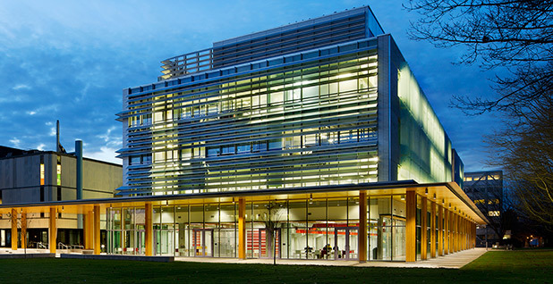 The University of British Columbia's Earth Sciences Building in Vancouver is made of wood.  (Photo courtesy of FTP Edelman.)
