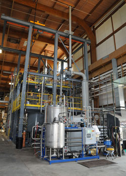 Scientists and engineers are designing a larger version of the Forest Products Lab's nanocellulose facility, seen here,  that could one day be built in Yreka, California.