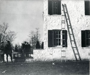 "The so-called ""Lindy Baby Ladder,"" which Forest Products Laboratory Botanist Arthur Koehler used to convict Bruno Hauptmann."