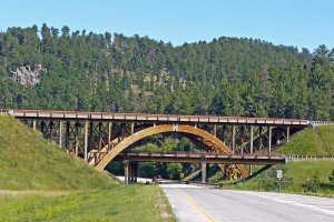 Timber bridges in Pennington County, South Dakota.